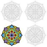 Etnisch geometrisch ontwerp Stock Afbeeldingen