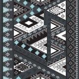 Etnisch geometrisch patroon Stock Fotografie