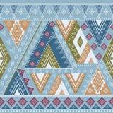 Etnisch geometrisch patroon Stock Foto