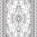 Etnisch geometrisch patroon Stock Foto's