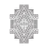 Etnisch geometrisch patroon Stock Afbeelding