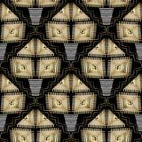 Etnisch geometrisch vector naadloos patroon royalty-vrije illustratie