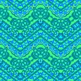 Etnisch hand getrokken patroon met zigzaglijnen Stock Afbeeldingen