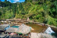 Etnisch het dorpslandschap van Cat Cat, Sapa, Vietnam stock afbeeldingen