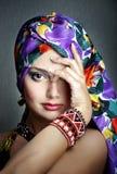 Etnisch manierportret Stock Foto's