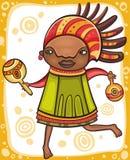 Etnisch meisje 2 Stock Foto