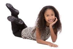 Etnisch meisje op witte achtergrond stock afbeeldingen