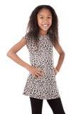 Etnisch meisje op witte achtergrond royalty-vrije stock foto's