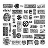 Etnisch met de hand gemaakt ornament voor uw ontwerp Royalty-vrije Stock Afbeeldingen