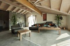 Etnisch meubilair, woonkamer stock afbeelding