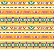 Etnisch naadloos Azteeks patroon stock illustratie