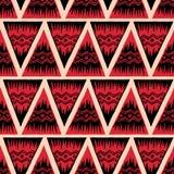 Etnisch naadloos patroon stock afbeelding