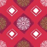 Etnisch naadloos patroon Abstracte Oosterse Mandala Background voor Behang, Textiel, Stof, Document, websiteachtergrond vector illustratie