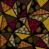 Etnisch naadloos patroon in Afrikaanse stijl stock illustratie