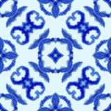 Etnisch naadloos patroon Etnisch bohoornament Abstracte batikband geverfte stof, Shibori-het verven Het herhalen van achtergrond  vector illustratie