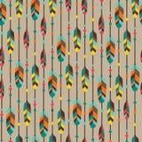 Etnisch naadloos patroon in inheemse stijl met Royalty-vrije Stock Foto