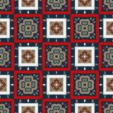 Etnisch naadloos patroon met geometrisch ornament Druk voor stof vector illustratie
