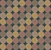 Etnisch naadloos patroon met spiralen Stock Fotografie