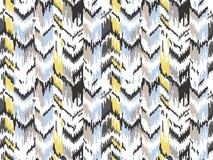Etnisch naadloos patroon Stammen etnische vectortextuur Gestreept patroon in Azteekse stijl Ornament van de Ikat het geometrische royalty-vrije illustratie