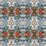 Etnisch naadloos stammenpatroon Druk voor stof in vector royalty-vrije illustratie