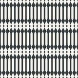 Etnisch netto abstract naadloos abstract zwart-wit patroon of twee Royalty-vrije Stock Afbeelding