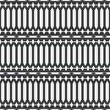 Etnisch netto abstract naadloos abstract zwart-wit patroon of twee Royalty-vrije Illustratie
