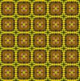 Etnisch patroon in gele tonen Royalty-vrije Stock Foto