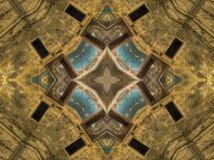 Etnisch patroon Het abstracte ontwerp van de caleidoscoopstof Stock Fotografie