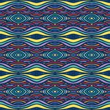 Etnisch patroon, met dikke lijnen en vlotte golven royalty-vrije illustratie