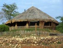 Etnisch plattelandshuisje stock fotografie