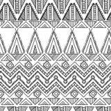 Etnisch sier textiel naadloos patroon Royalty-vrije Stock Afbeeldingen