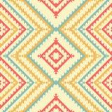 Etnisch stammen naadloos patroon Geometrisch ontwerp Stock Afbeelding