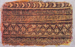 Etnisch stammen sierpatroon stock fotografie