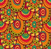 Etnisch textiel decoratief inheems sier naadloos patroon in vector Eindeloze achtergrond stock illustratie