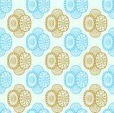 Etnisch textiel decoratief inheems sier naadloos patroon in vector Eindeloze overladen achtergrond royalty-vrije illustratie