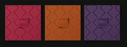 Etnisch Traditioneel Patroonontwerp Als achtergrond vector illustratie