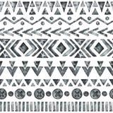 Etnisch waterverf naadloos patroon royalty-vrije illustratie