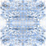 Etnisch Waterverf naadloos patroon met abstracte strepen, punten en penseelstreken stock afbeelding