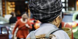 Etnische Aziatische vrouw royalty-vrije stock foto