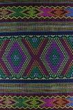 Etnische doektextuur en achtergrond Royalty-vrije Stock Foto's