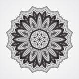 Etnische Fractal Mandala stock illustratie