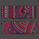 Etnische geplaatste patroonkaarten Royalty-vrije Stock Fotografie