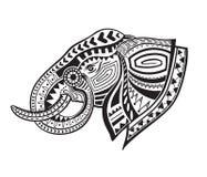 Etnische gesierde olifant Stock Afbeelding