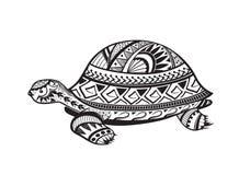 Etnische gesierde schildpad Royalty-vrije Stock Foto's