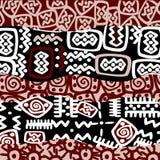 Etnische gestileerde motieven, achtergrondpatroon Royalty-vrije Stock Afbeelding
