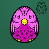 Etnische het eivogel van Pasen royalty-vrije stock fotografie