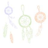 Etnische illustratie van Dreamcatcher de hand getrokken boho Vector Illustratie