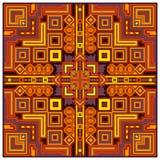 Etnische kleurrijke abstracte van het het kaderornament van het ontwerp decoratieve geometrische stammenpatroon vectorillustratie Royalty-vrije Stock Afbeeldingen