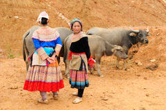 Etnische mensen in Vietnam Stock Foto