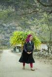 Etnische minderheidvrouw het werken Stock Foto